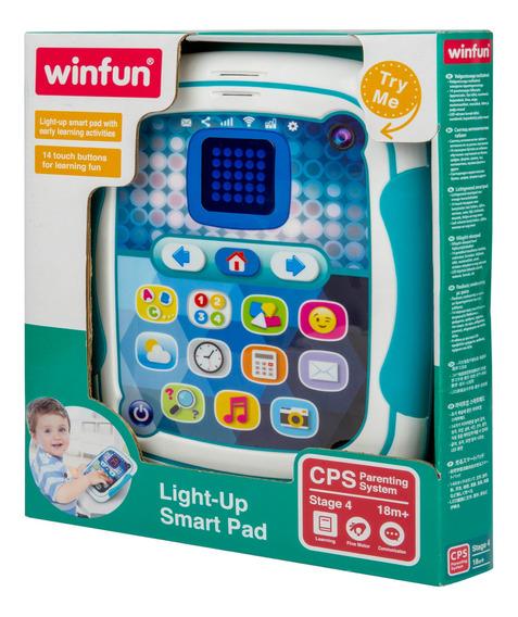 Tablet Infantil Inteligente Bilingue C/ Luz E Som Winfun