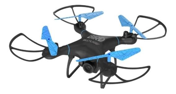 Drone Multilaser Bird Alcance 80m Preto E Azul - Es255