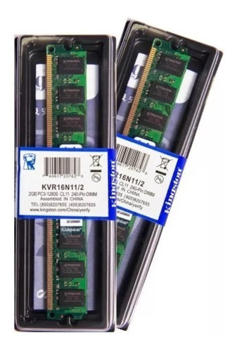 Memória Kingston Ddr3 2gb 1600 Mhz Desktop Kit C/ 02 Unid