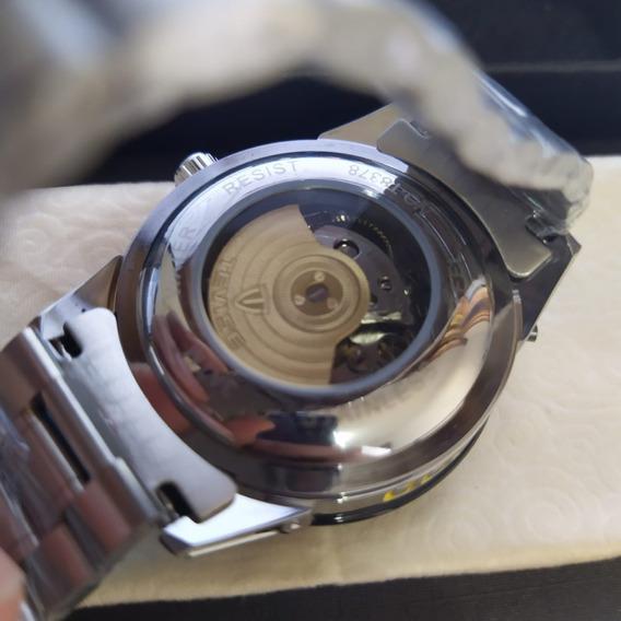 Relógio Mecanico Tevise Automatico Luxo - Importado