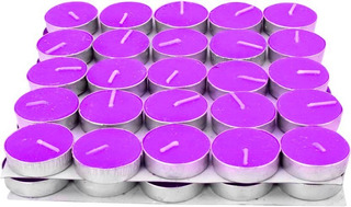 48 Velas De Té Con Aroma A Lavanda Tea Lights Candles