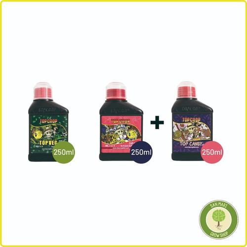 Tripack Combo Top Crop 250 Ml, Top Veg+top Bloom + Top Candy