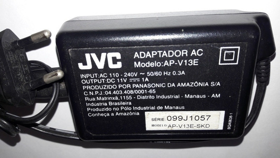 Fonte Carregador Jvc Modelo Ap-v13e-skd 110/240v 11v=1a