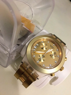 Relógio Swatch Full Blooded Svck4032g Dourado Original