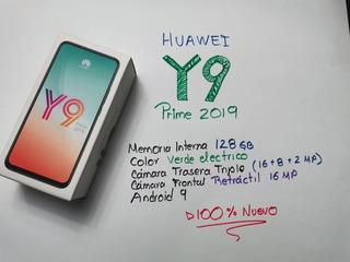 Huawei Y9 Prime, Nuevo, 128gb, Telcel + Chip, Verde