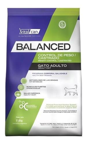 Vital Cat Balanced Gatos Castrados 7.5kg