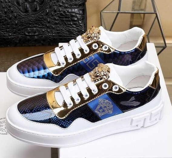 Zapatillas Versace Gold And Blue