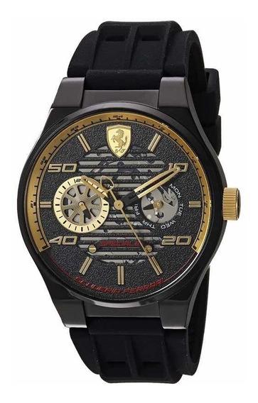 Reloj Ferrari Casual De Acero Inoxidable Y Silicona