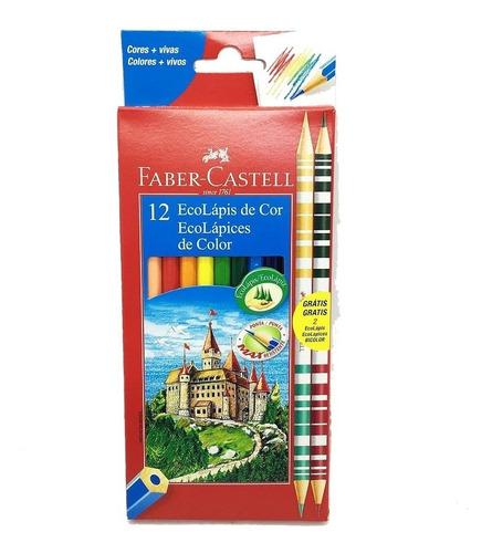 Lapices De Colores Faber Castell X12 Largos Clasico Planeta