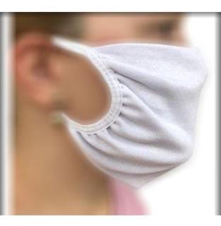 Máscara Proteção Tecido Branca Algodão Dupla Tamanho Único