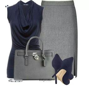Falda Zara Color Gris Oxford. Talla Xs.