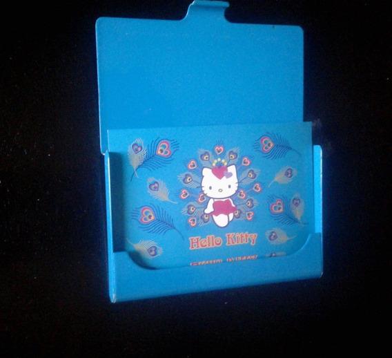 Tarjetero Metálico Hello Kitty Sanrio Producto Original