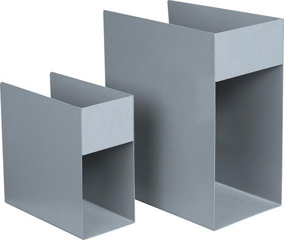 Caixa Bibliográfica Em Aço, 20 X 10 X 20 Cm, Cinza