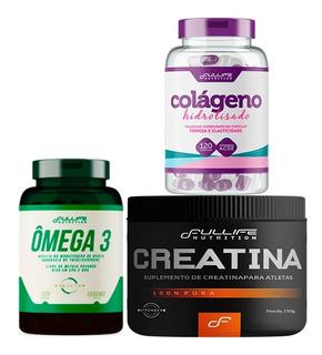 Creatina + Colageno Hidrolisado + Omega 3 1000mg - Fullife