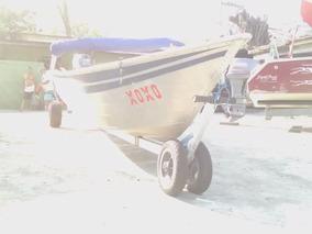 Barco De Alumínio Com Motor De Popa De 25 Hp