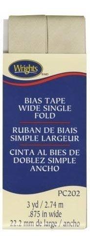 Cinta Al Bies De Doblez Simple De 2,2cm Khaki Pc202 Wrights