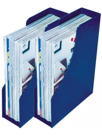Porta Revistas Cinza Caixa Com 8 Unidades Menno