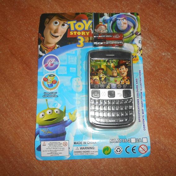 4 Piezas Celulares Telefono Juguete Toy Story Sin Pilas