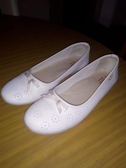 Zapato Para Comunion Balerina Marcel Cuero