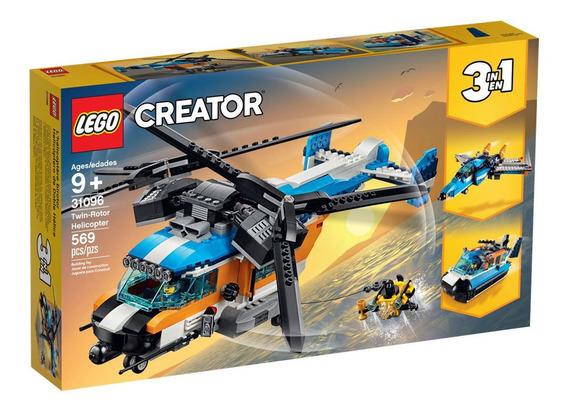 Lego Creator - 3 Em 1 - Helicóptero Com 2 Hélices - 31096