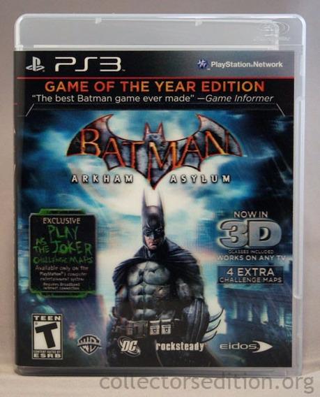 Batman Arkham Asylum Ps3 Midia Física | Garantia Playgorila