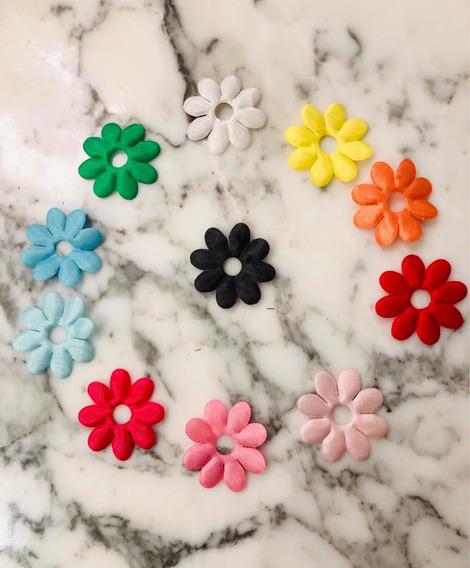 100 Flores De Tela Para Coser O Pegar. 35mm. Oferta!