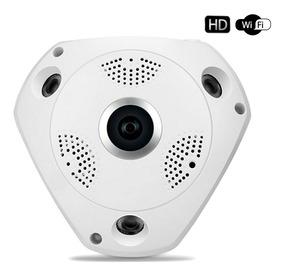 Câmera Panorâmica Vr Cam Segurança 3d Hd 1.3mp Wifi 360º