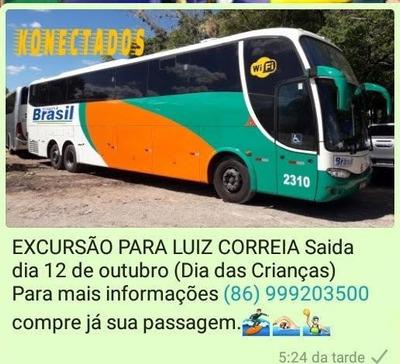 Excursão Para Luiz Correia Dia 12 De Outubro De 2019