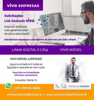 Link Dedicado De Internet Vivo Empresas - Solicitações