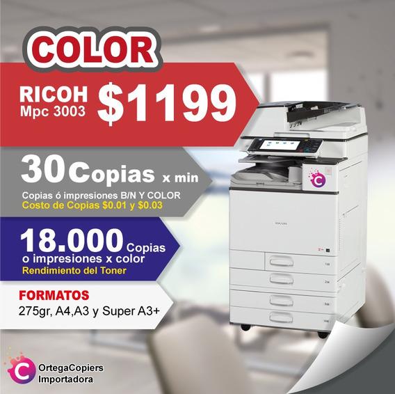 Copiadora Ricoh Mpc 3003 Color Oferta
