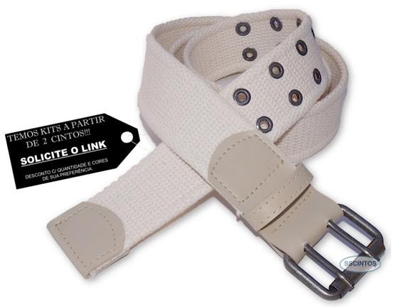 Cinto Plus Size Masculino Lona 2 Bordas Larg 4cm L39 Ar 02