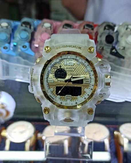 Relógio Esporte Transparente Lançamento Várias Cores