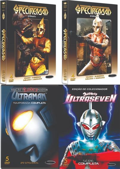 Coleção Boxes Dvd Spectreman + Ultraman + Ultraseven Novos!