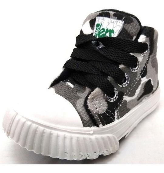 Zapatillas Botita Niños New Tillers 42 Gris Camu