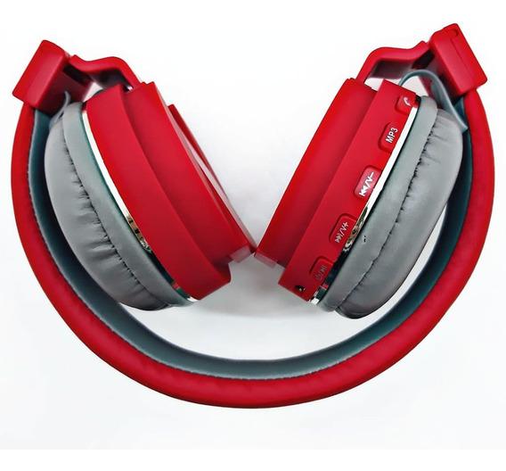 Headphone Bluetooth Fm Mp3 Altomex Original A-833 Vermelho