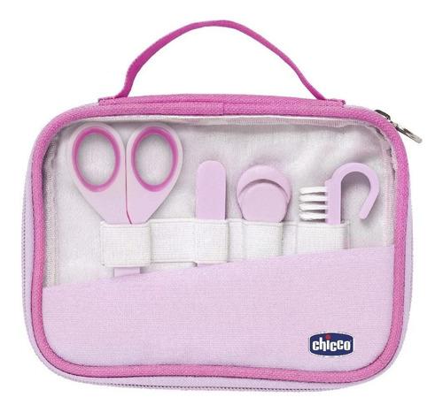 Imagem 1 de 3 de Kit Higiene E Cuidados Do Bebê Manicure Completo Rosa Chicco