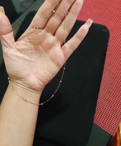 Preciosa Cadena Para Dama De Oro Italiano 10k Peso 2.7g