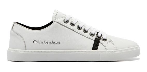 Tênis Sapatenis Calvin Klein Couro Frete Gratis
