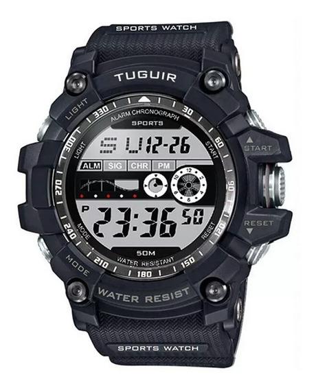 Relógio S-shock Camuflado Grande Militar Digital Promoção