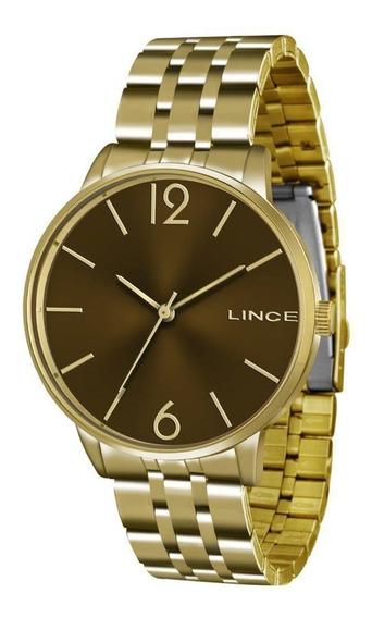 Relógio Feminino Dourado Lince Lrg605l M2kx Lindo E Barato