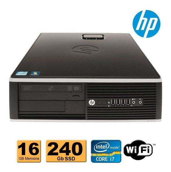 Cpu Hp Elite 8300 1155 I7 3ª Geração 16gb 240gb Rw Wifi