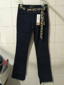Calca Jeans Equus Com Detalhe Onça Cintura Alta -nova! 42