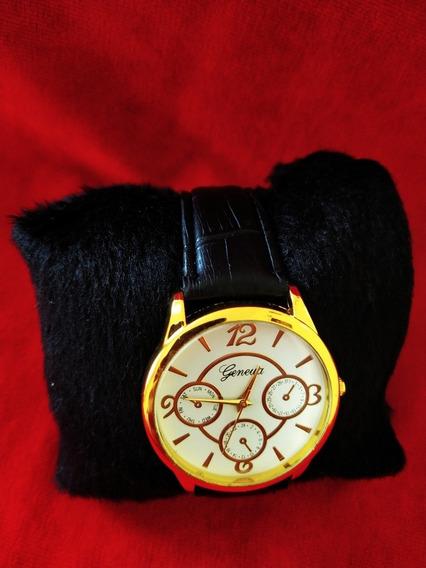 Relógio De Luxo Masculino Pulso Esporte Pulseira De Couro