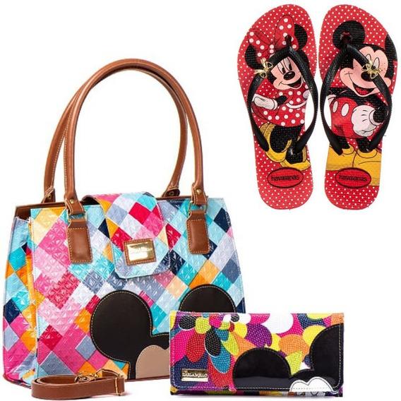 Bolsas Femininas Transversal Magic Disney Mickey Minnie