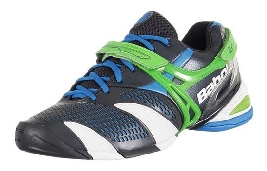 Tênis Babolat Propulse 3 Roddick, Preto/verde/azul, N 42