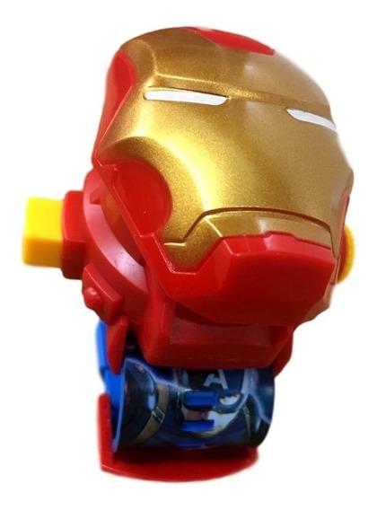 Relógio Infantil Homem De Ferro Projetor Imagem Vingadores