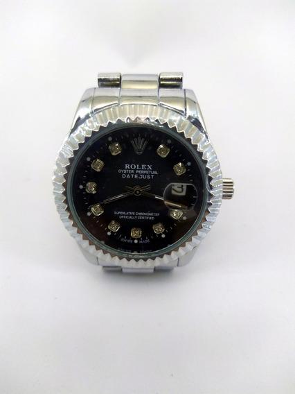 Relógio Rolex Prata Unisex Stile- Com Strass Casual Elegante