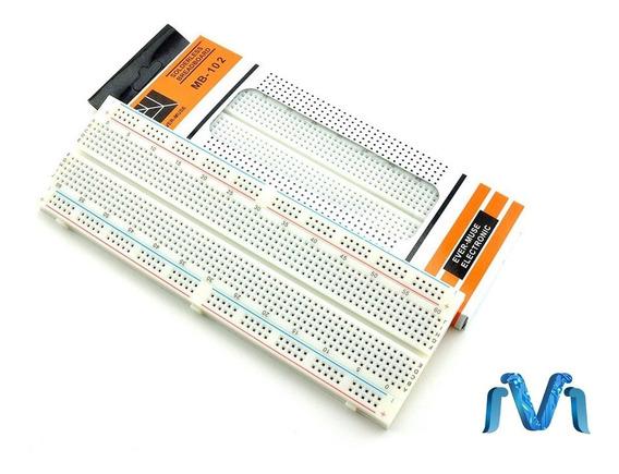 10pzs Protoboard 830 Puntos Blanca Proto Breadboard Mv