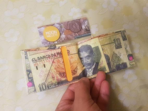 Paquete De 03 Moon Wallets Replica Billete Zapata