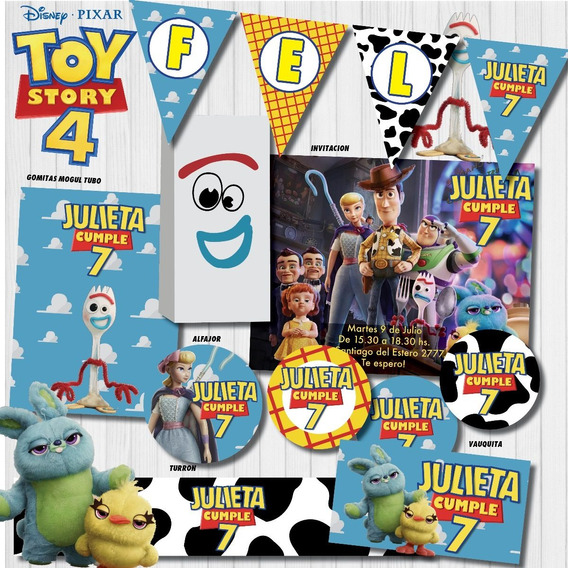 Kit Imprimible Personalizado Candy Bar Toy Story 4 Forky